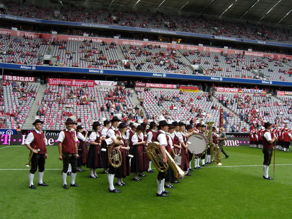 Fahrt in die Allianz-Arena 2008
